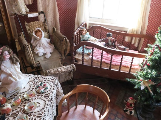 A child's room ready for an 1850s Christmas in the