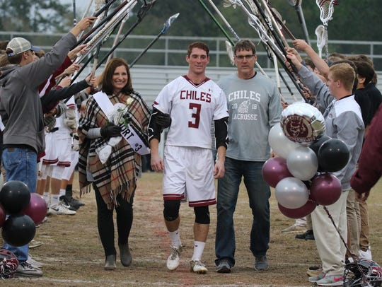 Chiles' lacrosse team beat Maclay 13-10 on Monday,