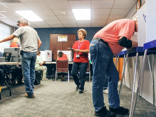 In this file photo, hundreds of registered voters in