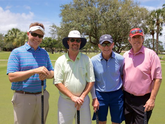 Andy Spears, left, John Leighton, Terry McCarthy, and John Gonzalez golfed in the 2018 Robert F. Novins Memorial Golf for Life Tournament.