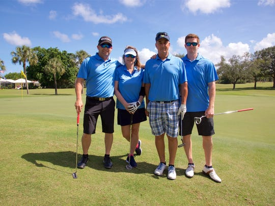 Dan Black, left, Kathy Carlson, Robert Carlson, and Andrew Carlson golfed in the 2018 Robert F. Novins Memorial Golf for Life Tournament.