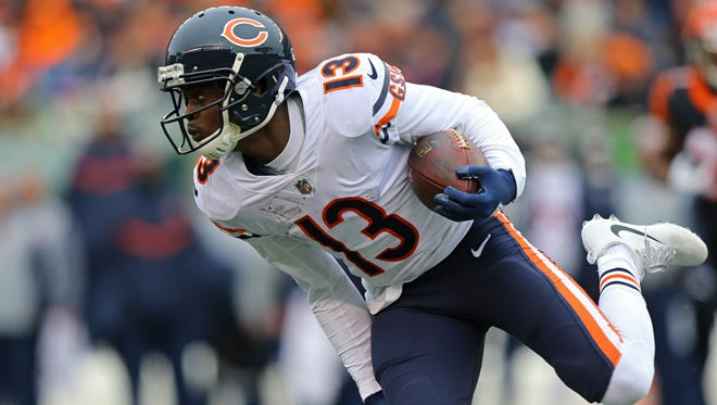 Bears wide receiver Kendall Wright has 24 targets and 17 catches over the past two weeks.
