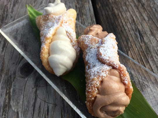 The cannoli are housemade at Maui Pasta in Scottsdale.