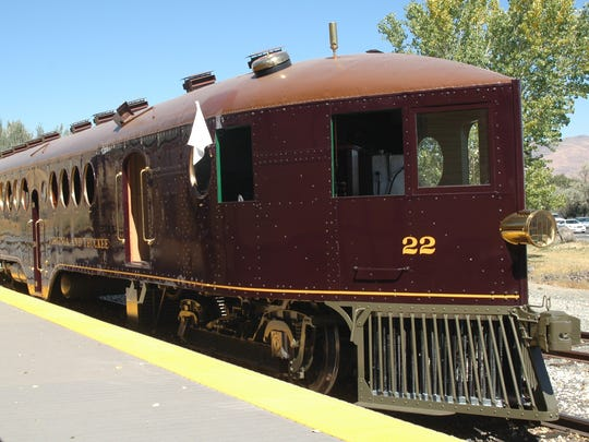 Visitors to the Nevada State Railroad Museum can ride