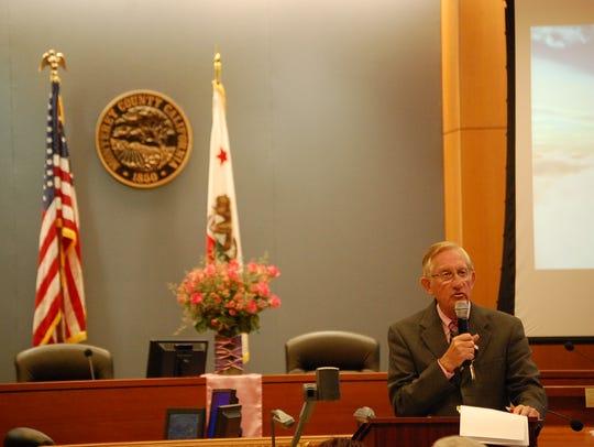 Monterey County District Attorney Dean Flippo speaks