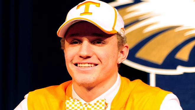 Independence's Vic Wharton III when he signed with Tennessee.