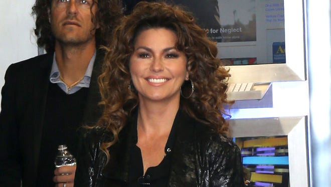 Shania Twain seen at ABC Studios for an appearance on 'Good Morning America'.