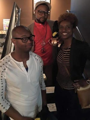 Twisted Idol's top three contestants from 2015. The winner, Kia Rice, right, used her cash prize to pursue a music career.