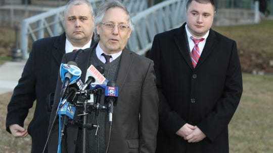 Michael Sussman, defense attorney for Grafton Thomas, speaks to the press after his arraignment at the Rockland County Courthouse in New City on Thursday, January 16, 2020.
