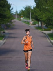 Tressa Zahrbock Kool runs as part of a health livestyle.