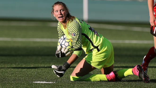Rookie goalkeeper Britt Eckerstrom won her first two starts for the Western New York Flash in June and was named NWSL Player of the Week.