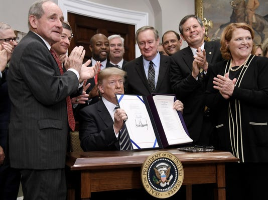 President Trump signs S.2155, the Economic Growth, Regulatory Relief, and Consumer Protection Act. - DC