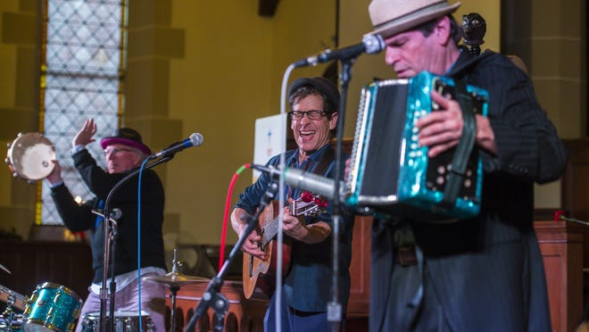 The Hokum Brothers perform at the First United Methodist Church during First Night Burlington on Thursday.