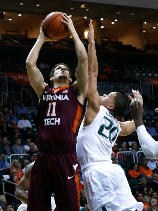 NCAA Basketball: Virginia Tech at Miami