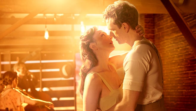 Carmen Cusack (left) and Paul Alexander Nolan play young lovers in the 1920s South in Broadway's 'Bright Star.'
