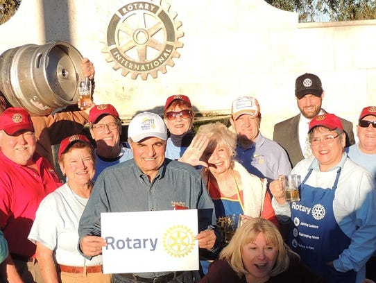 Sunrise Rotary members promote the 2018 Florida Craft