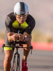 Athletes compete in the St. George Ironman competition Saturday, May 5, 2018.