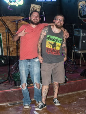 Adam and Britt Powell of the duo The Powell Brothers perform Friday, June 2, 2017, at Bomber's Pub in Montgomery.