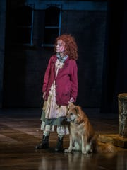 Vivian Poe as the title character in Annie, with Marti