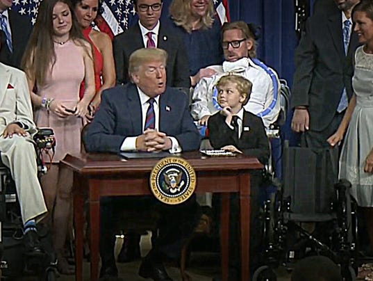 Jordan McLinn admires President Trump