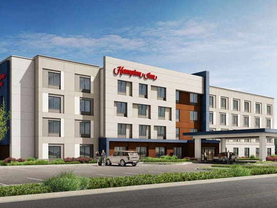 Pleasant View Hampton Inn rendering.