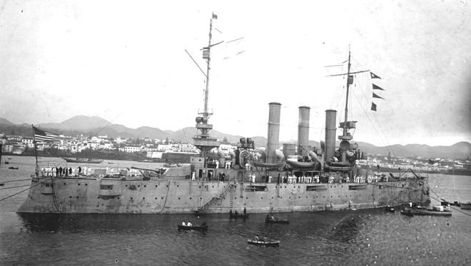 The USS Rochester in 1917. The Military History Society of Rochester is building a model of the ship from this era.