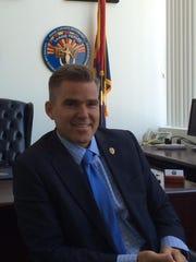 Lando Voyles, Pinal County attorney, in his office