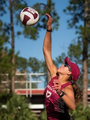 Florida State junior Vanessa Freire earned CCSA Pair