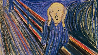 """The Scream"" by Norwegian painter Edvard Munch is one of the art world's most recognizable images."