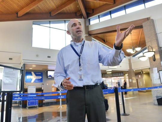 Airport Director Bill Towle is shown at St. Cloud Regional