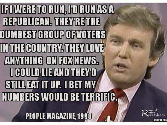 Fact Check Did Trump Say In 98 Republicans Are Dumb
