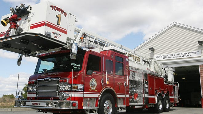 A file photo shows a Bridgewater Fire Department ladder truck.