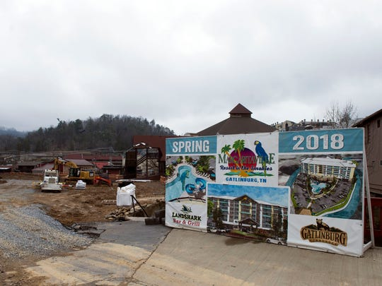 The $35 million Margaritaville project, on 5 acres, will include a LandShark Grill restaurant, fronting on the Parkway. The restaurant is expected to open this spring, and the resort as a whole should open in July 2018.
