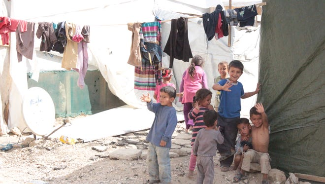 Children play at Mercy Camp, a camp for Syrian refugees in Lebanon. Omar Soufan, a UR student, worked at a separate camp in the same region.