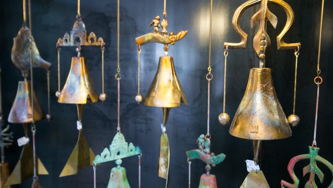 Handmade bells at Cosanti Originals in Paradise Valley on Wednesday, July 24, 2013.
