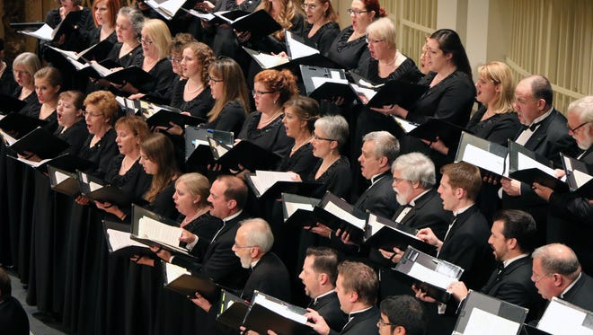 """The May Festival Chorus performs its annual """"Messiah"""" in Music Hall."""