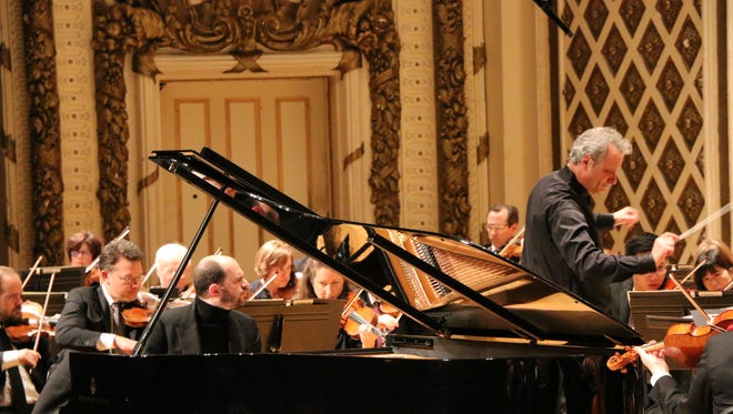 Kirill Gerstein, pianist, with Louis Langrée leading the Cincinnati Symphony Orchestra in Schumann's Piano Concerto in A Minor