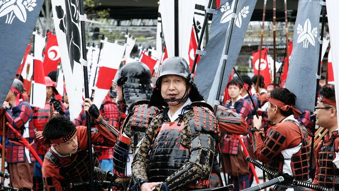 Scenes from the Shingen-ko Matsuri in Kofu City, Yamanashi, which is Japan's largest samurai festival and parade.