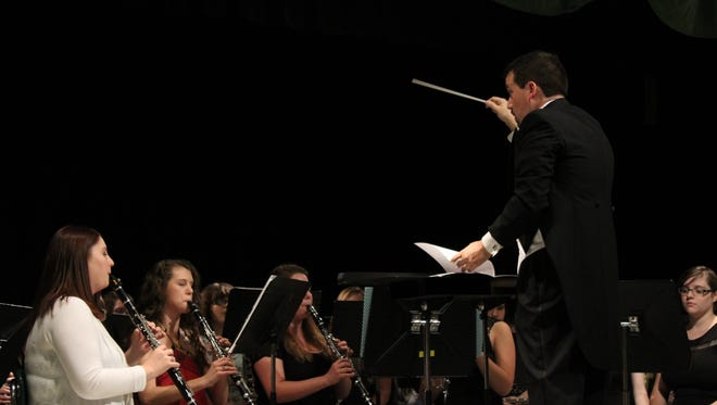 """The Houston County High School Concert Band played """"Rest"""" by Frank Ticheli. They are led by Conductor William M. Whitt."""