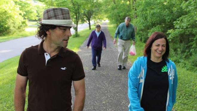 This group of avid walkers, Mayor Paul Bailey and Kelly Irons in the front and Rosalie Casey and Ben Hagler in the back, meet at 7:30 a.m. every morning at Betsy Ligon Park to walk.