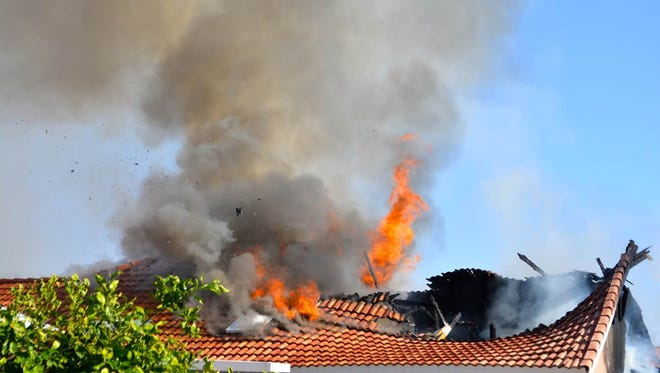 A home in Sun Lakes was damaged Friday afternoon after a fire consumed the back portion of the residence.