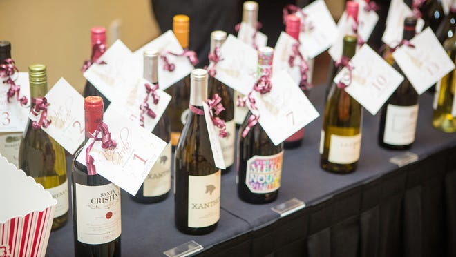 """A variety of wines used in the """"Wine Grab"""" amped up the fun during cocktail hour of last year's BIG Gala."""