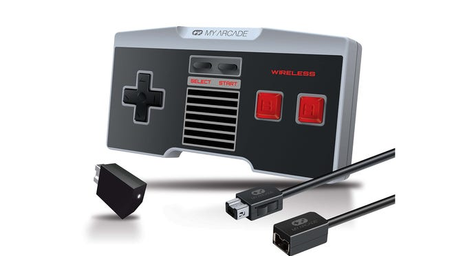 The My Arcade Gamepad Combo Kit comes with a wireless controller plus a cord extender for the stock gamepad.