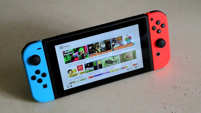 The Nintendo Switch hybrid gaming console.