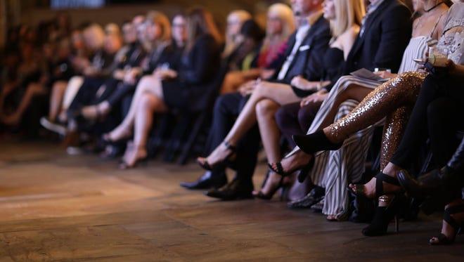 The front row at BMI during Nashville Fashion Week, April 7, 2017.