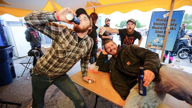 Nick Wills, Garrett Fletchall, and Waylon Lawson at Rock'n Ribs on Saturday, April 22, 2017 at the Ozark Empire Fairgrounds.