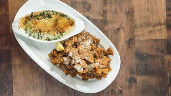 Spinach and artichoke dip with fried bow-tie pasta is one of the menu items that will be offered at Copeland's MKT in Lafayette.