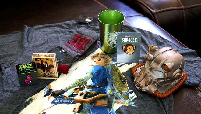 The items from the June 2017 ThinkGeek Capsule monthly subscription box.