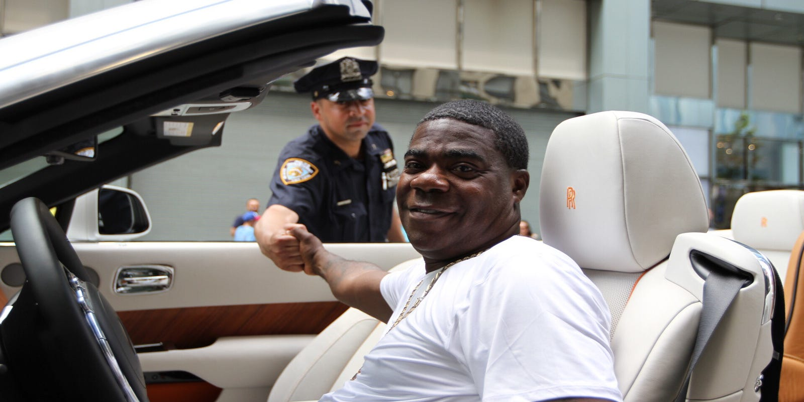 Tracy Morgan involved in Manhattan fender bender in his Bugatti