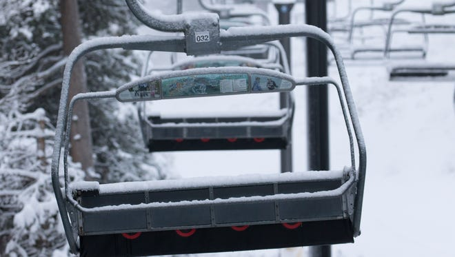 Ski lifts at Northstar California near Truckee were dusted with new snow Friday morning, Jan. 18, 2018.